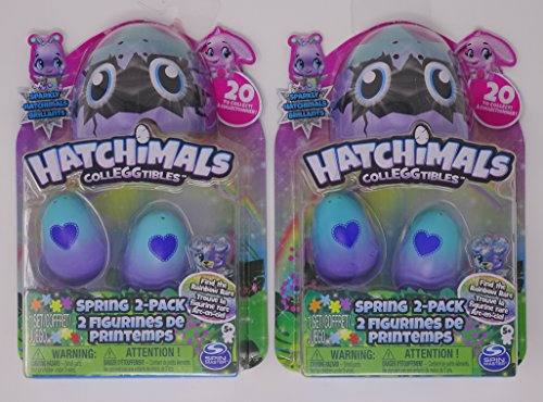Set of 2 Hatchimals Colleggtibles Exclusive Spring 2-Pack Sparkly Hatchimals - Exclusive Two Pack