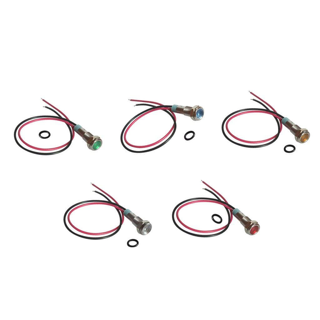 Sharplace 5 Pcs Indicateur De Signal En Métal LED 6mm 3 V Led Voyant D'avertissement