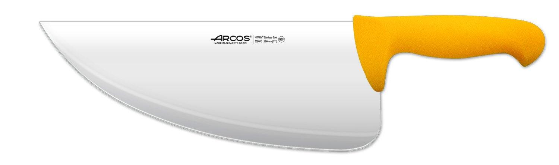Arcos 11-1/2-Inch 290 mm 450 gm 2900 Range Cleaver, Yellow