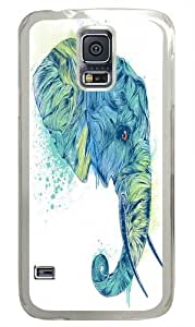 Elephant Head II Polycarbonate Hard Case Cover for Samsung S5/Samsung Galaxy S5 Transparent