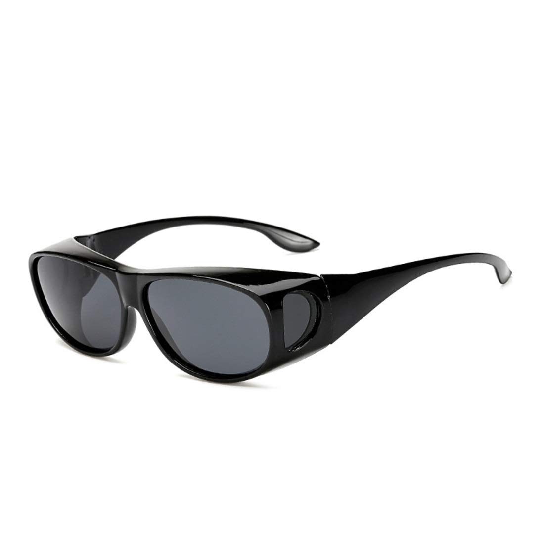 BAOYIT Men and Women Night Vision Sports Windproof Sand Glass Polarized Riding Glasses Sun Glasses Fashion Men (Color : Black) by BAOYIT