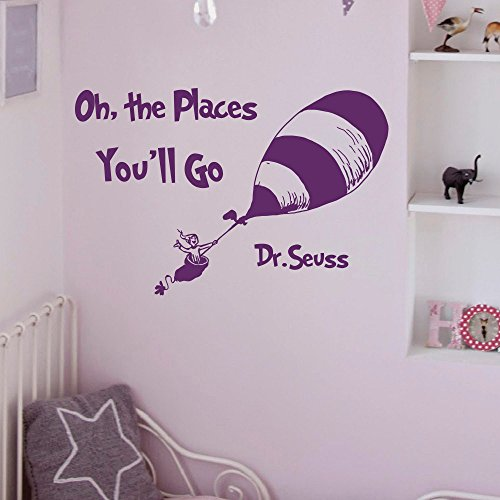 Place Decals (Boodecal Quote Series Dr. Seuss Wall Decals