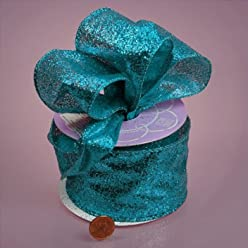 GRAND GLITTER WIRED FABRIC RIBBON - 10 yards by 2 1/2