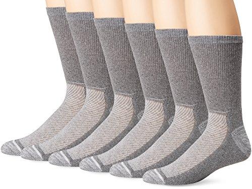 Hanes Men's Ultimate X-Temp Crew Socks 6-Pack, Gray, 10-13