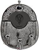 Johnston Dress Sporran 3 Tassels Studded Targe Celtic Arch Scottish Clan Name Crest