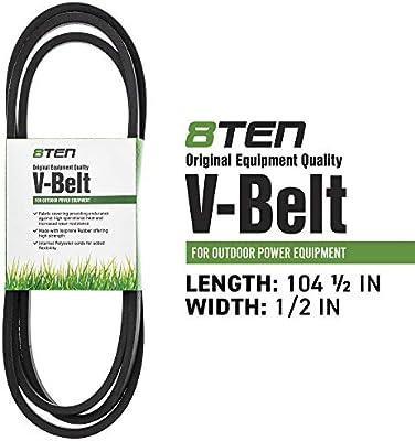8TEN Deck Belt For Cub Cadet 38 Mower Deck 1515 1525 Lawn Tractors Replaces 754 0641 954 0641