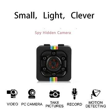 Tbest Mini c/ámara Esp/ía HD Oculta C/ámara HD C/ámara 1080P Sensor Ligero Visi/ón Nocturna Detecci/ón de Movimiento para Interiores//Exteriores
