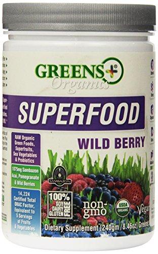 Organic Wild Berry Superfood Greens+ (Orange Peel Enterprises) 8.46 oz Powder. (Green Superfood High Energy compare prices)