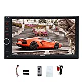 EinCar Android 6.0 System Quad Core Car NO DVD Player Auto Radio Video 1080P Multimedia Player 7'' Double din GPS Navigation Car Deck Head Unit support Screen Mirroring Function Wifi Wireless Remote