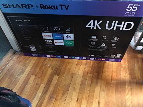Sharp 4K UHD LED 2160p Smart TV with HDR Roku TV (LC-55LBU591U) – 55″ – Refurbished