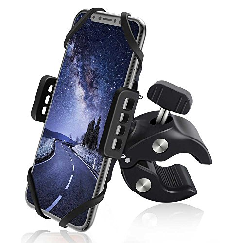Bike Phone Mount MEIDI Bicycle Phone Mount Holder with Silicone Bands for iPhone X / 8 / 8 Plus / 7 / 7 Plus /6/6 Plus Samsung Galaxy S8/S7 /S6 Edge Nexus HTC LG Motorcycle Stroller and More