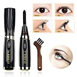 Heated Eyelash Curler, Automatic Eyelash Curlers,Mini Electric Eyelash Curler Brush, Eyelash Curler with Comb Long Lasting Curled, Portable Electric Makeup Eye Lashes Brush (Black)