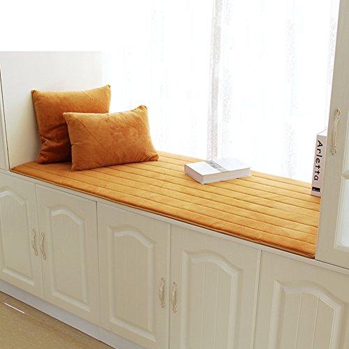NVLKJHSFGIUJFKL Bay window cushion,Window sill cushion cover seats sill pad plush non-Slip tatami thick living room bedroom balcony -D 80x170cm(31x67inch)