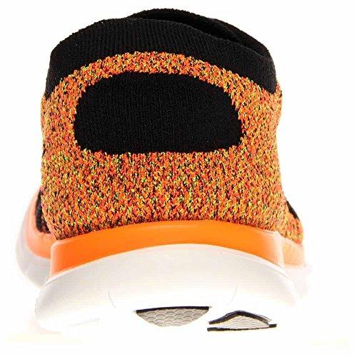 Nike Free 4.0 Flyknit Men (631053-011) BLACK/BLACK-TOTAL ORANGE-HYPER PUNCH