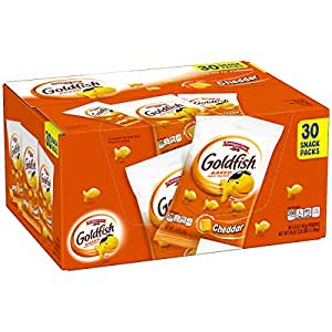Pepperidge Farm Goldfish Cheddar Crackers, 45 Oz. Multi-Pack Box, 30-Count 1.5 Oz. Snack Packs