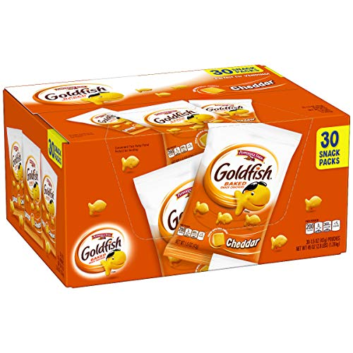 (Pepperidge Farm Goldfish Cheddar Crackers, 45 oz. Multi-pack Box, 30-count 1.5 oz. Snack)