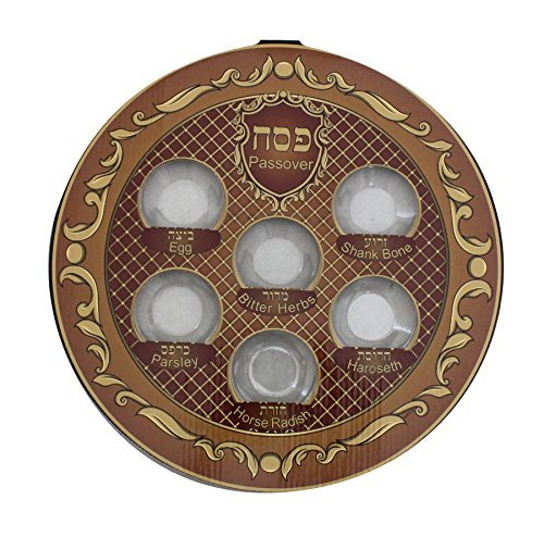 Elegant high quality disposable Seder Plates for Passover Pesach Pack of 4