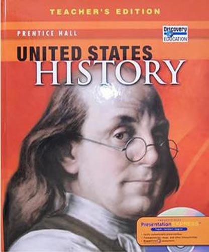 Books : United States History, Teacher's Edition