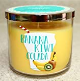 Bath and Body Works BANANA KIWI COLADA 3 wick Scented Candle 14.5 OZ