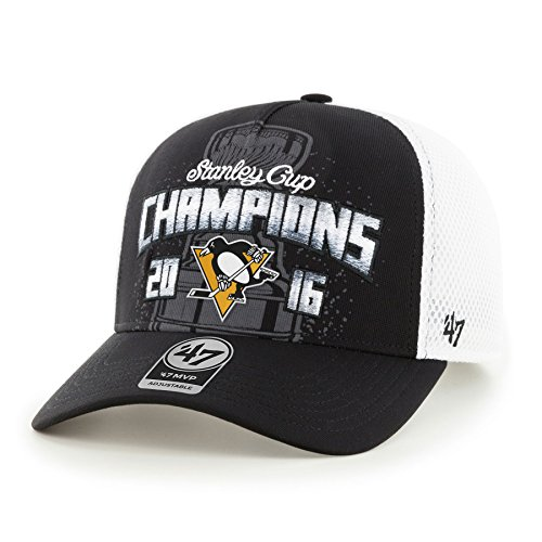 '47 NHL Pittsburgh Penguins 2016 Stanley Cup Champions MVP DV Mesh Adjustable Hat, One Size, Black