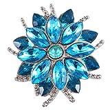 SODIAL 18mm Snap Button Women Charm Bracelet Snap Jewelry KC5403 Blue