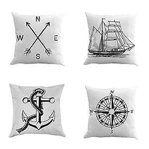 51aJZc2L2GL._SS300_ 100+ Nautical Pillows & Nautical Pillow Covers