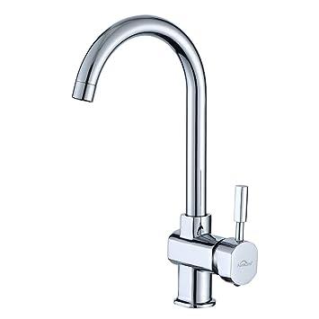 Auralum 360° drehbar Wasserhahn Küche Einhebelmischer Spültisch Armatur  Küchenarmatur Spültischarmatur Spülbecken Mischbatterie