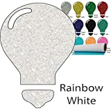 Color Theory Glitter Heat Transfer Vinyl (HTV) 20'' x 5yd Rainbow White