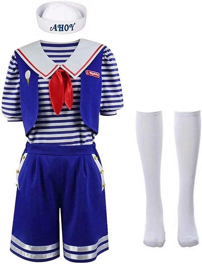 XFei Stranger Things Robin Scoops Ahoy Disfraz de Halloween para ...