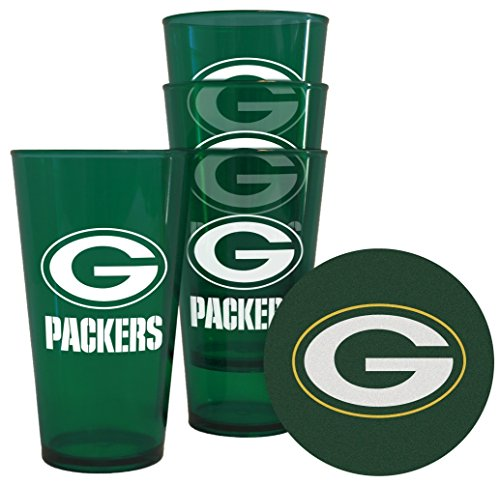 Boelter Brands Green Bay Packers Plastic Pint Glass