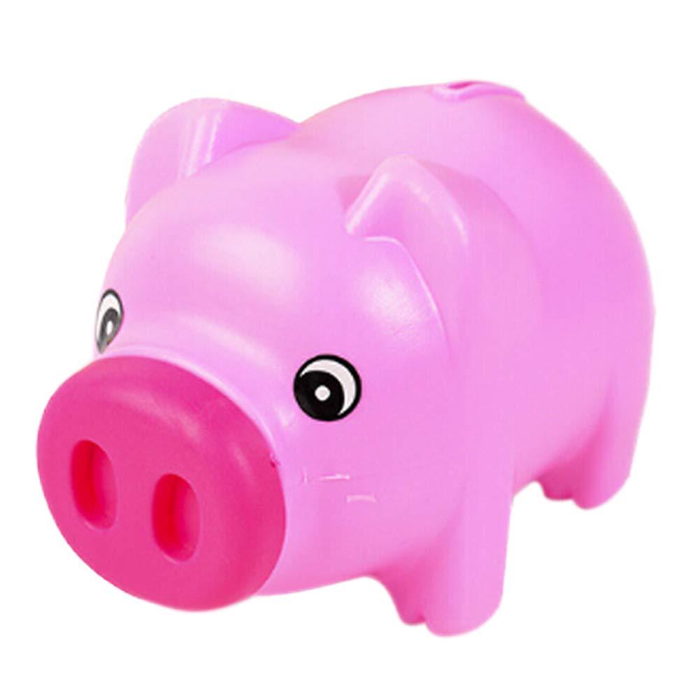 Delleu Plastic Animal Piggy Bank Saving Cash Coin Money Box Children Kids Gift