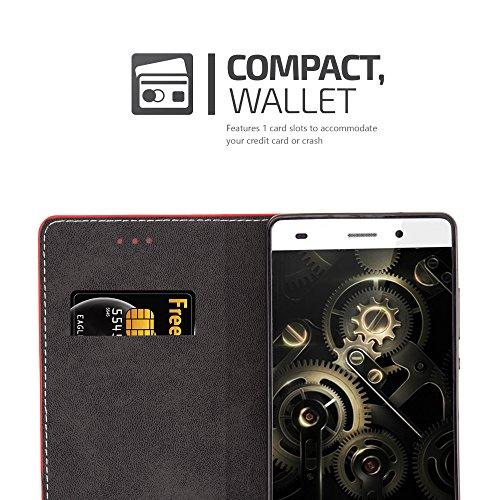 Cadorabo - Funda Estilo Book para >                                          Huawei ASCEND P8 LITE                                          < de Diseño gamuza-Artificial / Cuero-Artificial con Tarjetero, Función de Soporte y Cierre Magnético Invisible