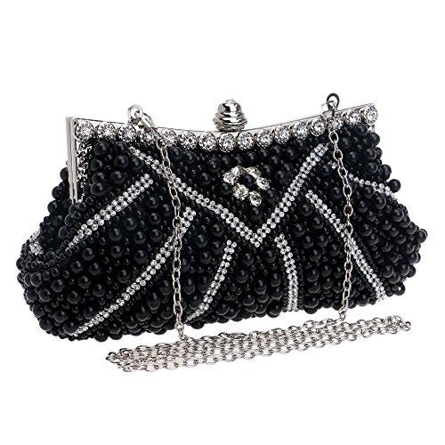 moyen noir pour Flada femme Pochette noir noir vHSXqYwX