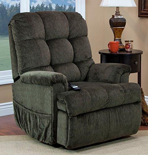 Sleeper Lift Chair - Medlift 5555-CAG Cabo Sleeper/Reclining Lift Chair, Godiva