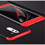 eCosmos Double Dip Full Protection Back Cover Case for Honor 6X/Huawei Honor 6X- Red/Black