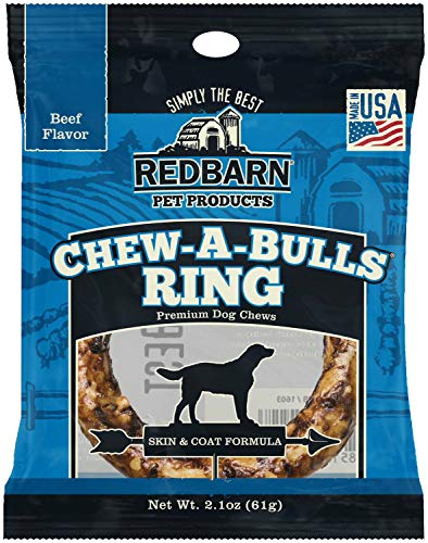 REDBARN Beef Chew-A-Bulls Ring Dog Chew, 20 Pack