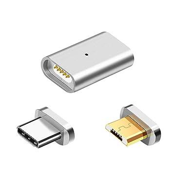 Jcotton Magnético Micro USB Adaptador Datos Sincronización Cargador Apoyo Androide Tipo-c Teléfono inteligente Interfaz