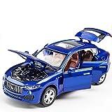 KMT Alloy Diecast Car Models Maserati Levante SUV Model Cars (Blue)