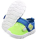 DADAWEN Baby's Boy's Girl's Water Shoes Lightweight Breathable Mesh Running Sneakers Sandals Green US Size 5 M Toddler