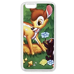 "Customized White Soft Rubber(TPU) Disney Cartoon Movie Bambi iPhone 6 Plus Case, Only fit iPhone 6+ 5.5"" by runtopwell"