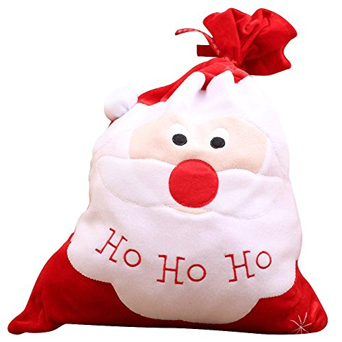 MONOMONO-Christmas Decoration Santa Claus Gifts Bag Candy Party Cookie Bags Belt Beamy (santa claus)