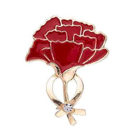 Amosfun Broche Clavel Flor Broche de Metal Diamante Broche ...