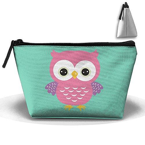 (Bing4Bing Oxford Fabric Lovely Big Eye Owl Trapezoid Receive Bag,Sewing Kit Cartridge Bag Cosmetic Bag Storage)