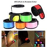 SHZONS™ 6PCs/Pack LED Safety Armband Cycling Jogging Walking Running Reflective LED Armband LED Light with 3 Flashing Modes 35x4cm(in Random Colors)