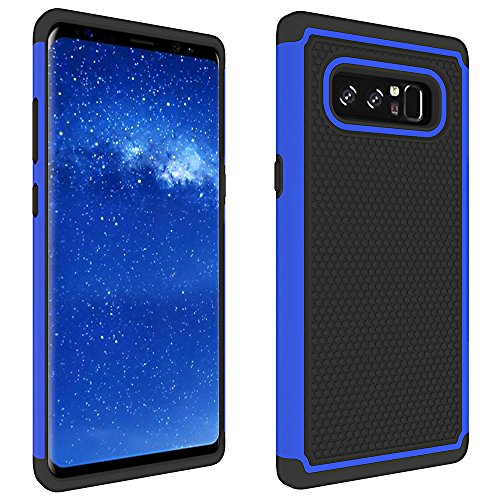 Galaxy Note 8 Case, SUMOON [Shock Absorption] Hard PC Cover + TPU Silicone Hybrid Armor Defender Protective Case Cover for Samsung Galaxy Note 8 (Blue+Black)