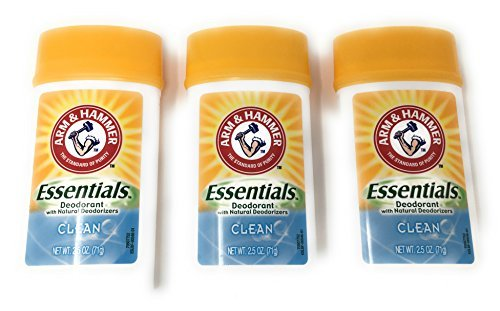 Wide Stick (ARM & HAMMER Essentials Solid Deodorant, Clean, Wide Stick, 2.5 oz. (Pack of 3))