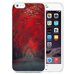 NEW Unique Custom Designed iPhone 6 Plus 5.5 Inch Phone Case With Red October Forest Pathway_White Phone Case wangjiang maoyi