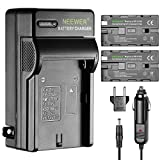 Neewer 2 Pieces 2600mAh Li-ion Replacement Battery for Sony F550 and AC Charger with US/EU Plug Car Adapter,Fit for CN-160 CN-216 LED Light,NW759 74K 760 S7 F7 Feelworld Aputure Bestview Field Monitor