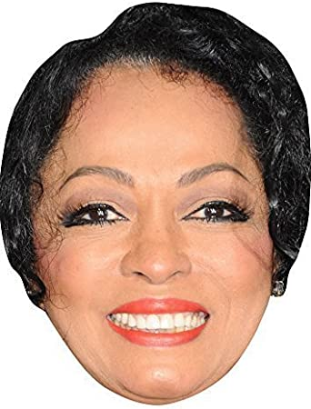 Diana Ross Young Card Face and Fancy Dress Mask Celebrity Mask