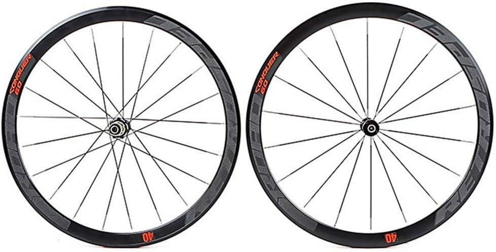 WCS Camino de la Bicicleta de rin Conjunto 700C Racing Juego de Ruedas de Alta presión de los neumáticos Pad C6.0 Ultraligera de Aluminio Tubular de 40 mm con Anti-cursor: Amazon.es: Deportes